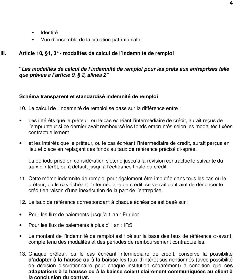 transparent et standardisé indemnité de remploi 10.