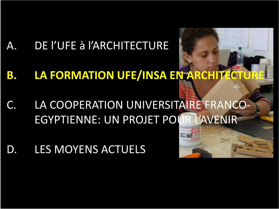 LA COOPERATION UNIVERSITAIRE FRANCO-