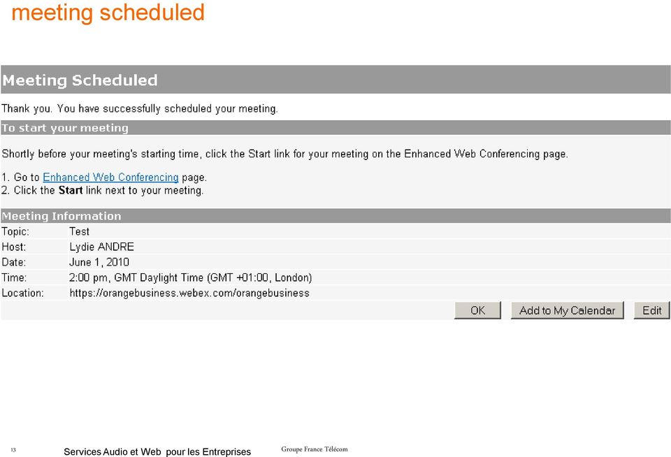 meeting web moderator Marked as answer by noya lau moderator thursday, june 23  i cannot delete the meeting from web scheduler because it states you can't make.
