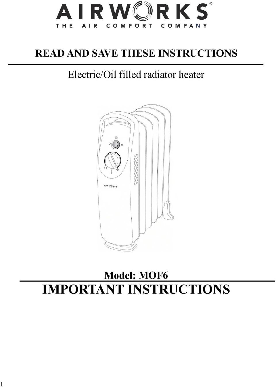 filled radiator heater