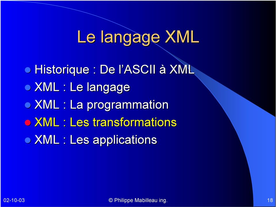 programmation XML : Les transformations
