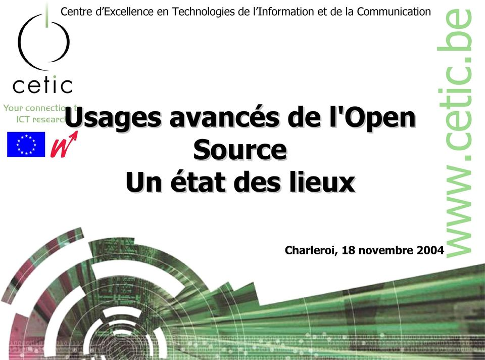 Usages avancés de l'open Source Un