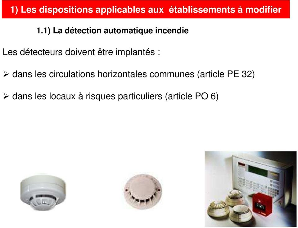 circulations horizontales communes (article PE