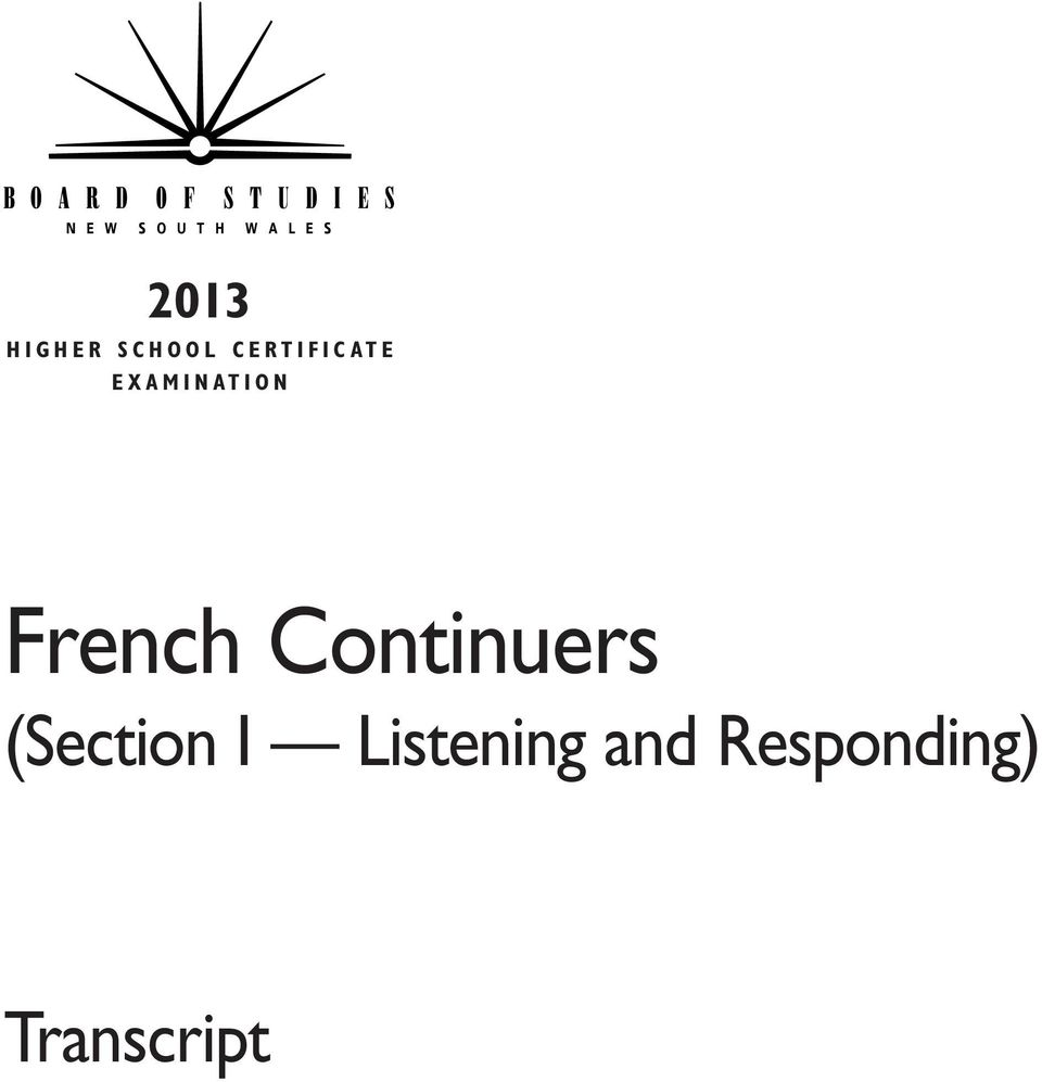 O N French Continuers (Section I
