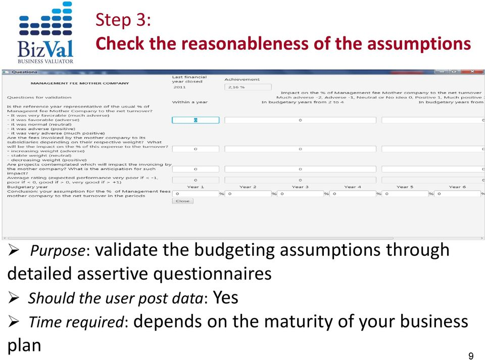 detailed assertive questionnaires Should the user post