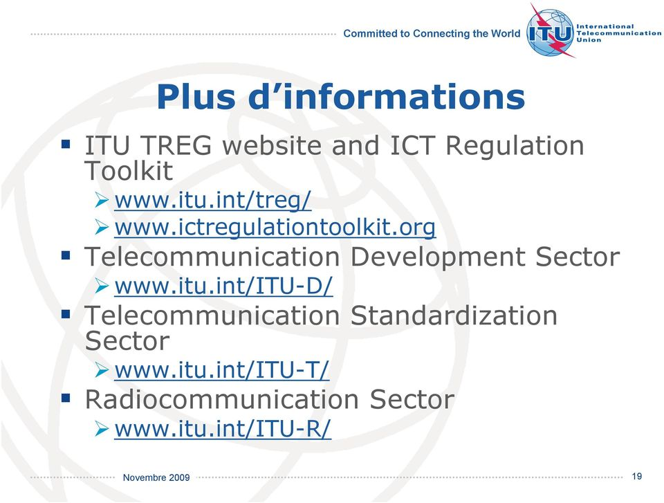 org Telecommunication Development Sector www.itu.