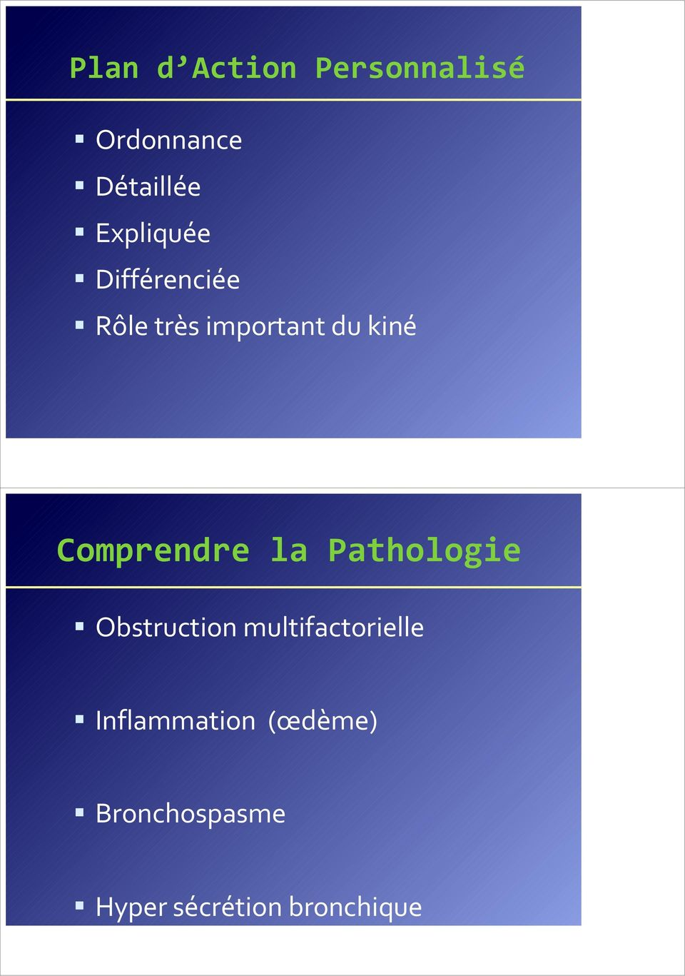 Comprendre la Pathologie Obstruction multifactorielle