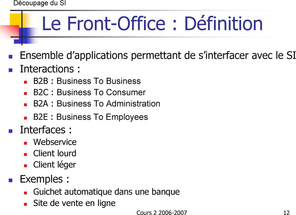 : Business To Administration B2E : Business To Employees Interfaces : Webservice Client lourd