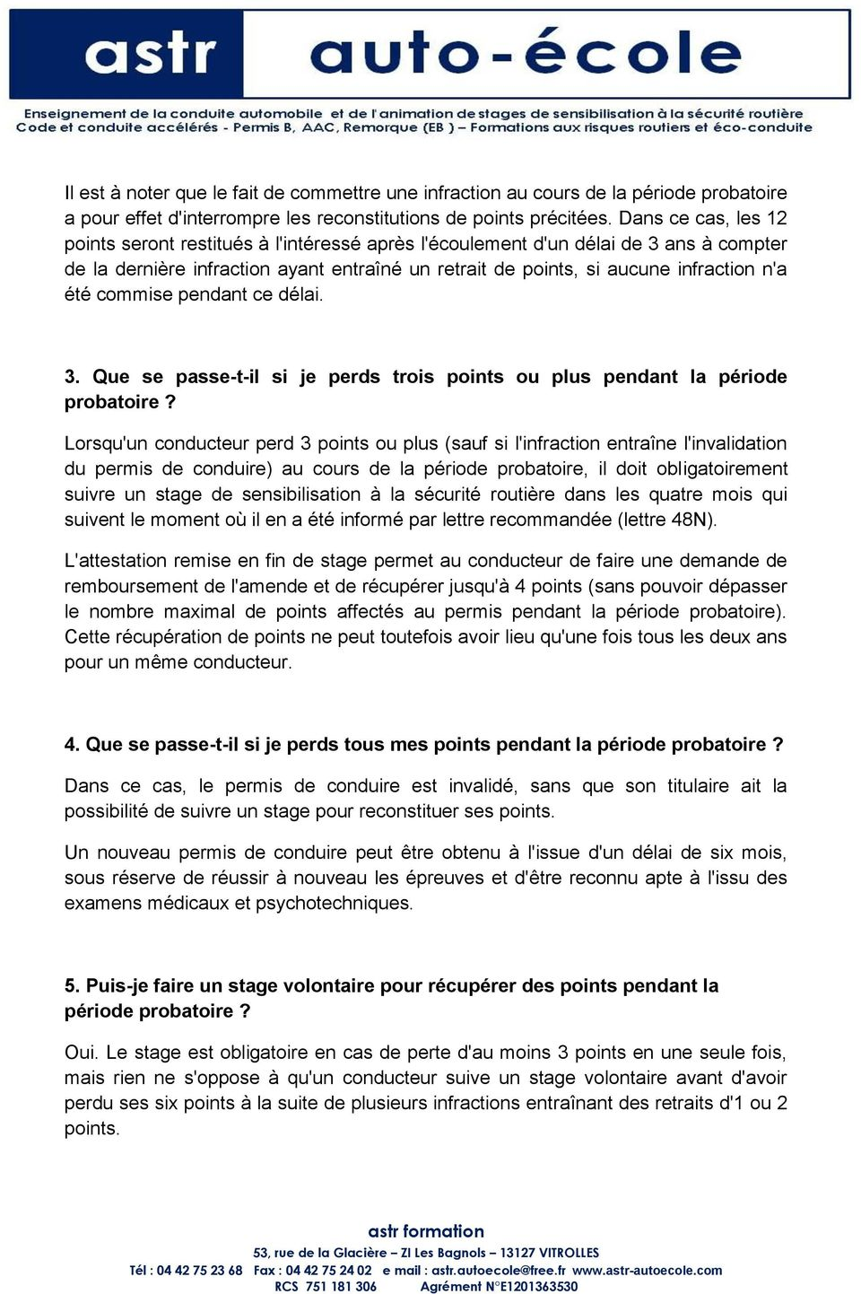 les questions sp cifiques li es au permis points pdf. Black Bedroom Furniture Sets. Home Design Ideas