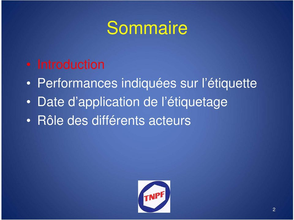 étiquette Date d application de