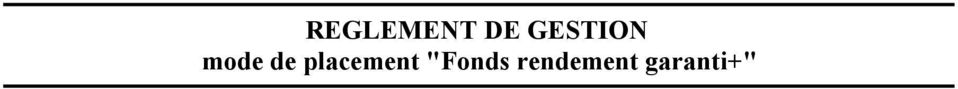 "placement ""Fonds"