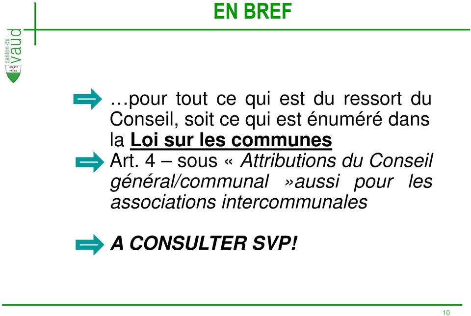 Art. 4 sous «Attributions du Conseil