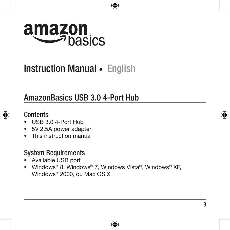 5A power adapter This instruction manual System Requirements