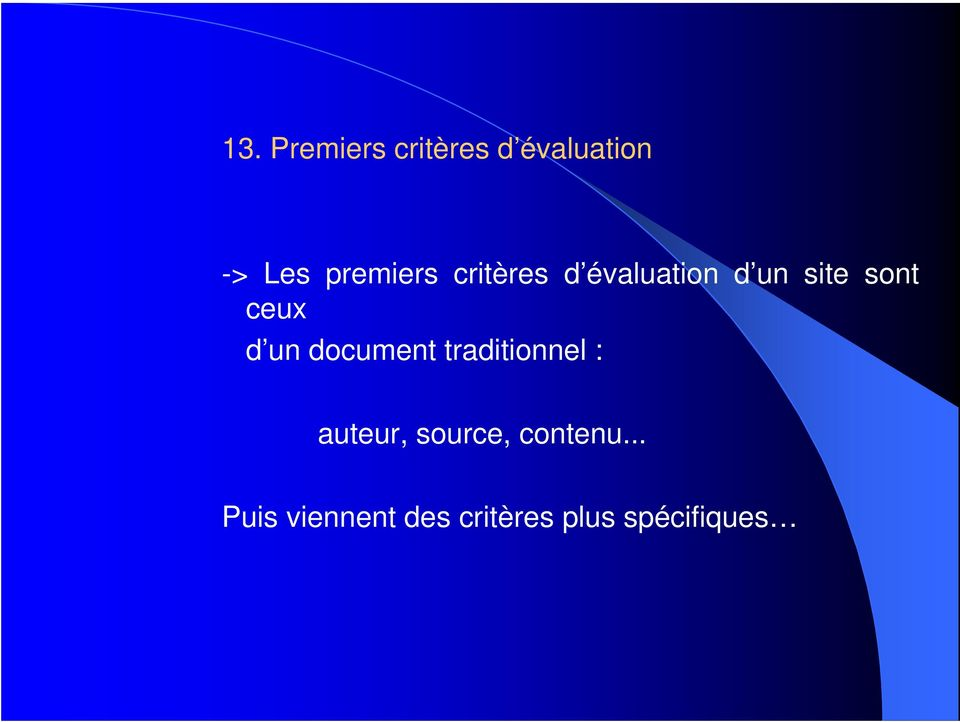 ceux d un document traditionnel : auteur,