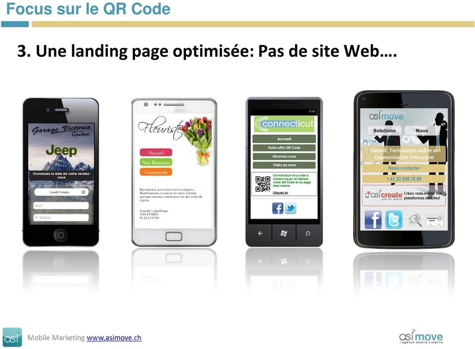 Une landing page