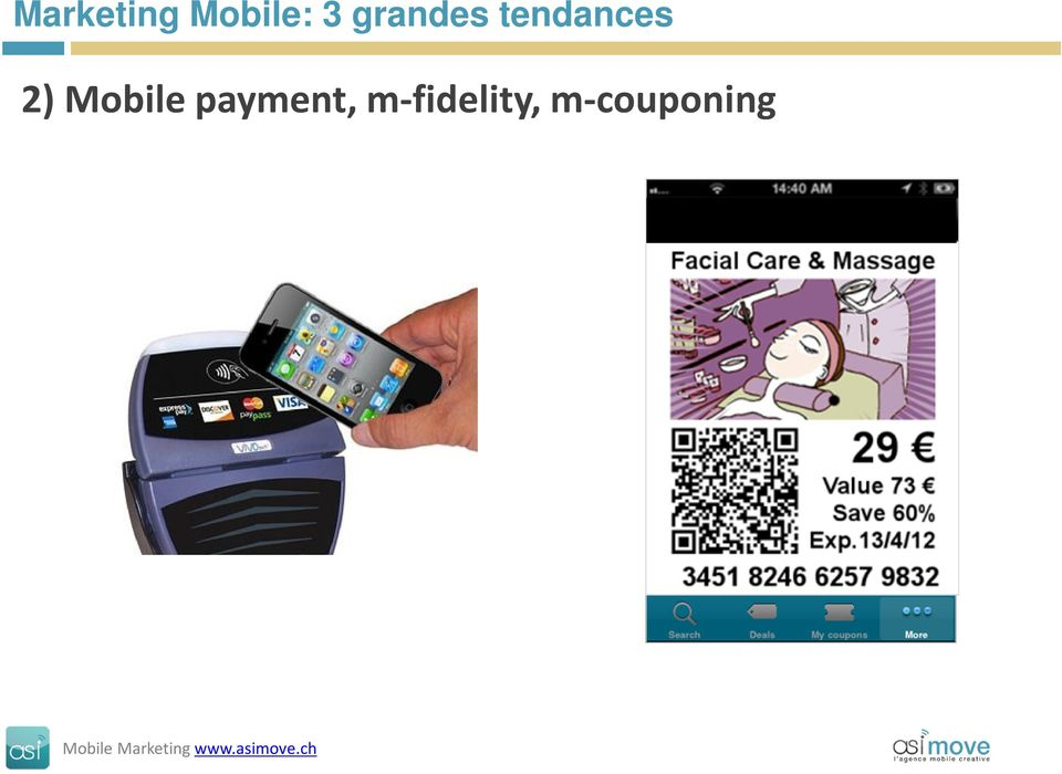 2) Mobile payment,