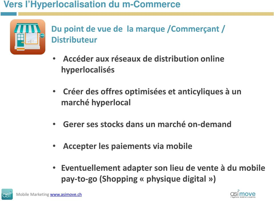 anticyliquesà un marché hyperlocal Gerer ses stocks dans un marché on-demand Accepter les