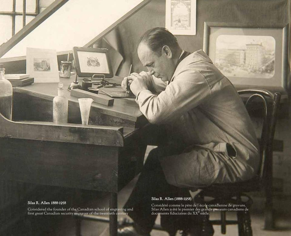 first great Canadian security engraver of the twentieth century  Allen (1888-1958)
