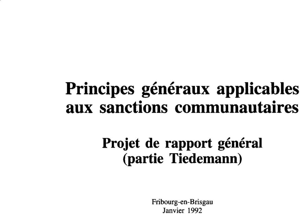 rapport general (partie Tiedemann)