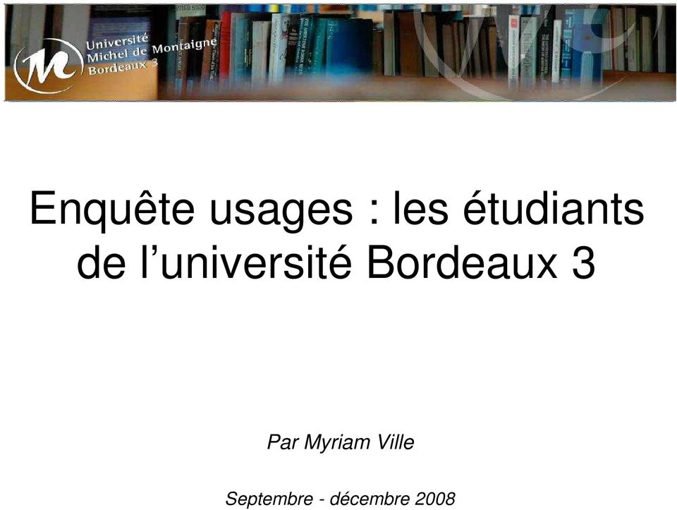 université Bordeaux 3