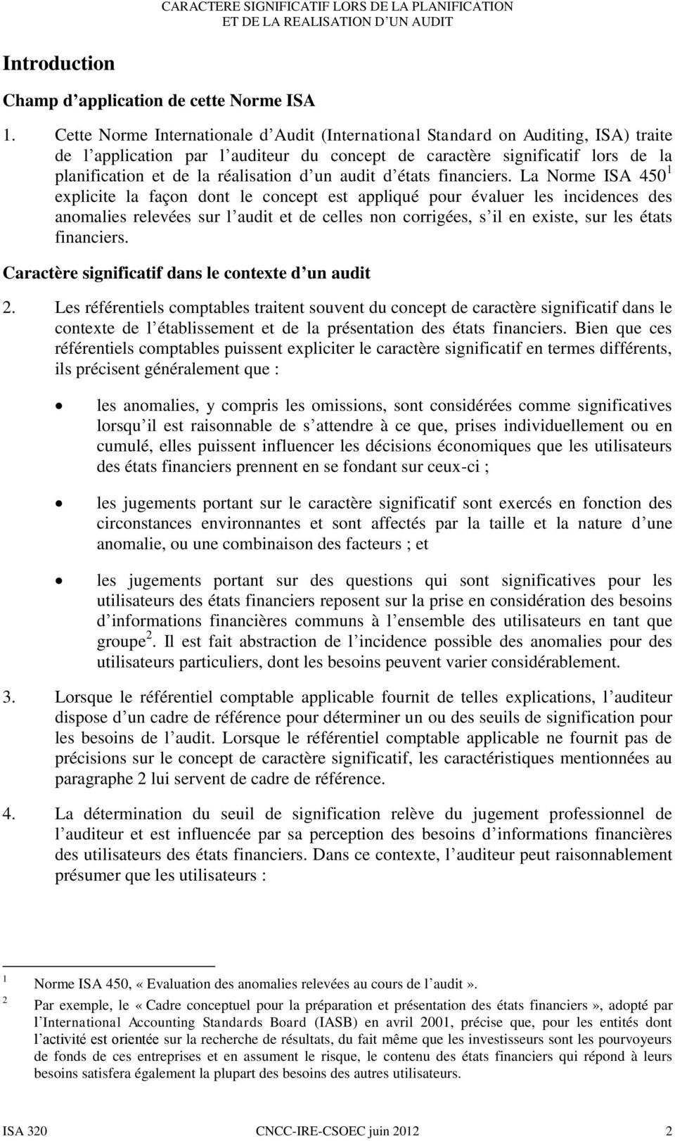 d un audit d états financiers.