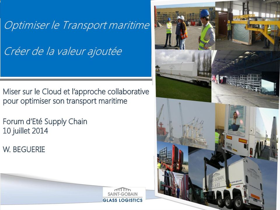 transport maritime Forum d Eté