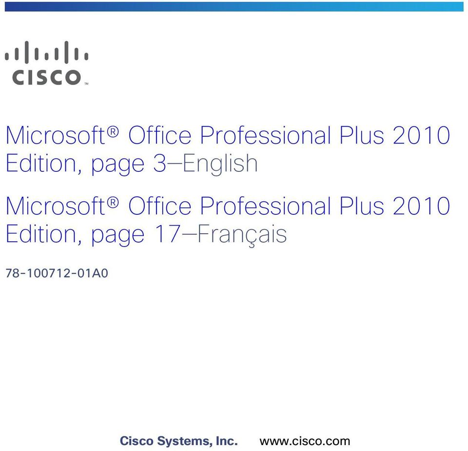 Français 78-100712-01A0 Cisco Systems, Inc.