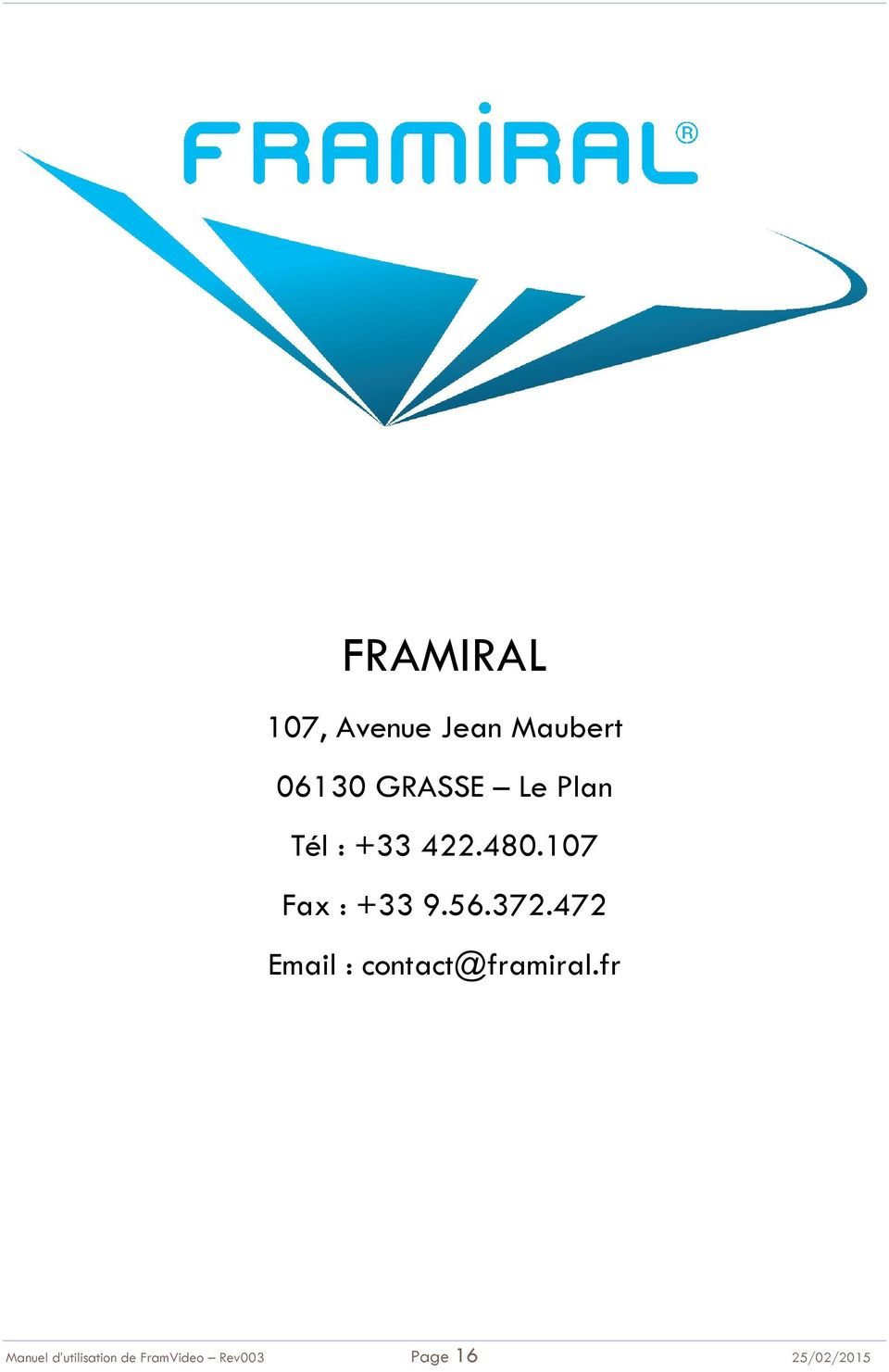 372.472 Email : contact@framiral.