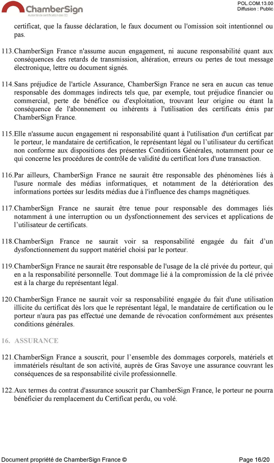 document signés. 114.