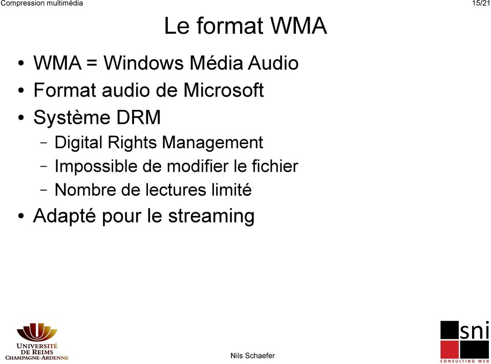 DRM Digital Rights Management Impossible de modifier