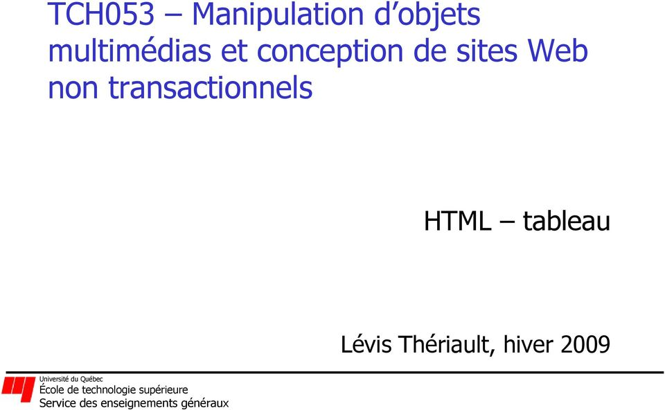 sites Web non transactionnels