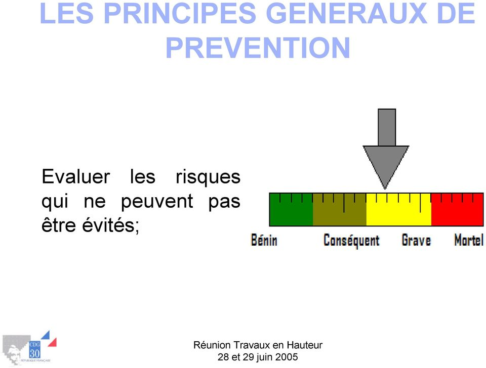 PREVENTION Evaluer