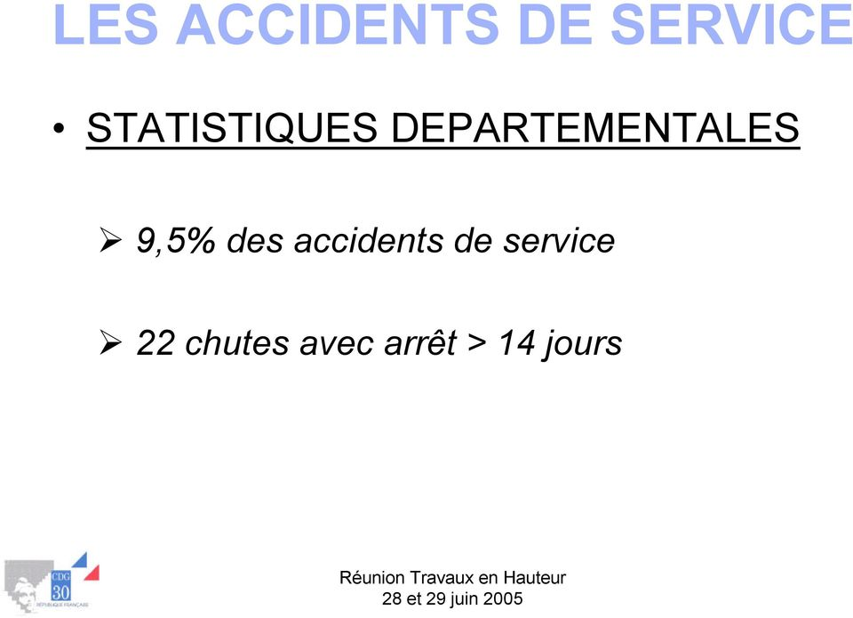 9,5% des accidents de