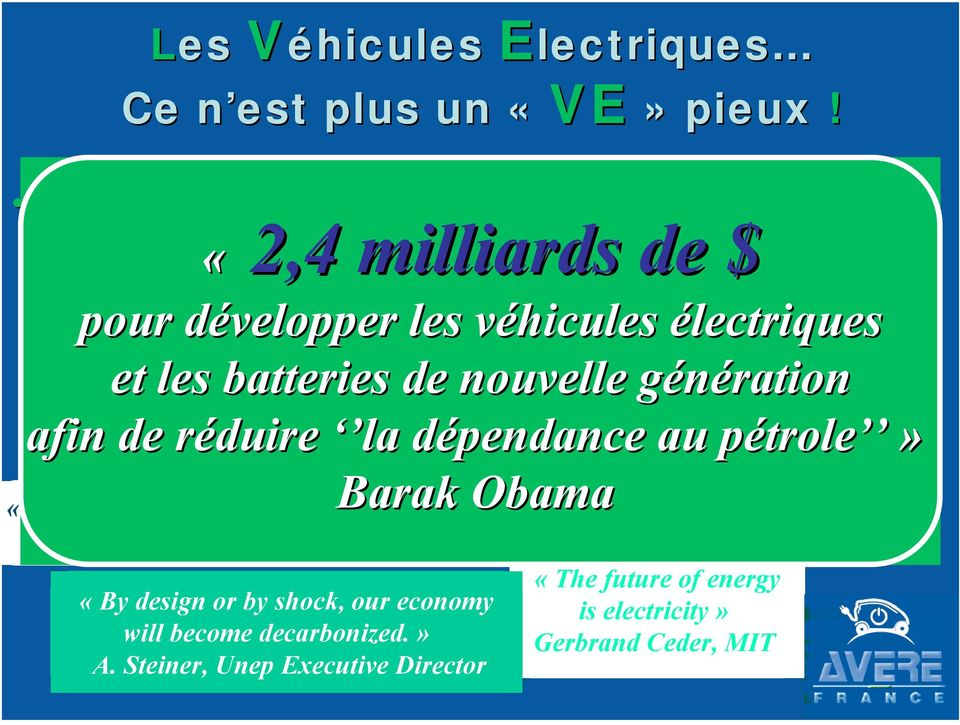 véhicules v on the sun électriques and solar energy. «Continuer à verser des milliards de dollars What a source of power!