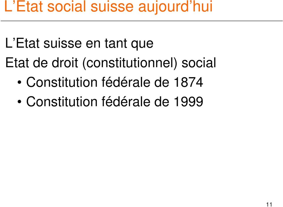 (constitutionnel) social Constitution