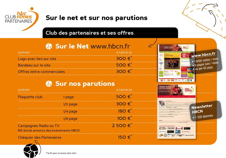 commerciales 300 * SUPPORT Sur le Net www.hbcn.
