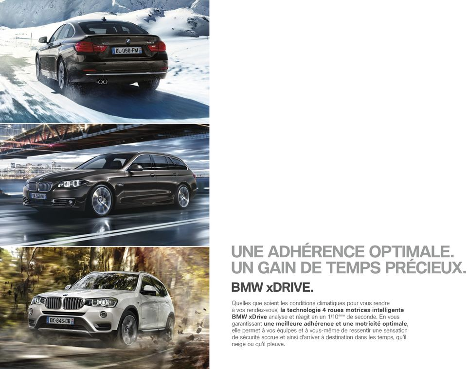 intelligente BMW xdrive analyse et réagit en un 1/10ème de seconde.