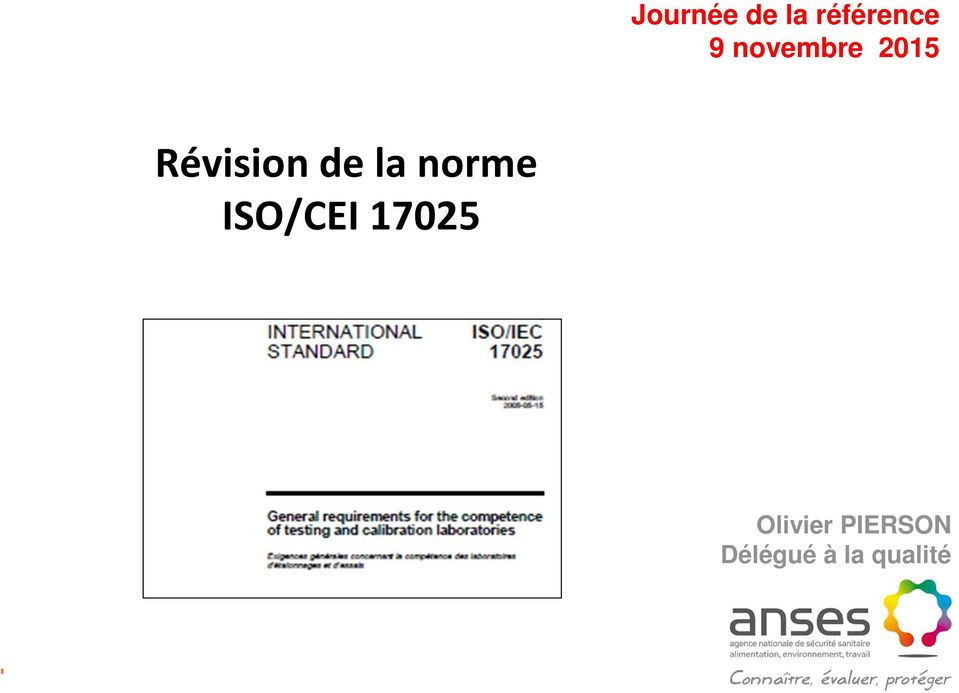 norme ISO/CEI 17025 Olivier
