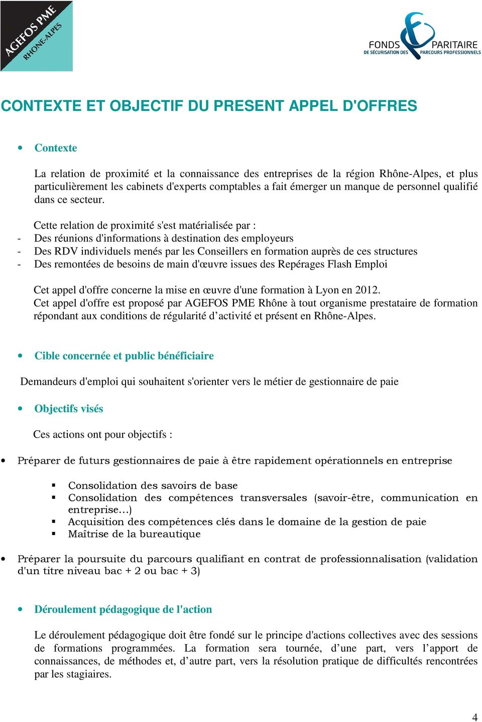 Cahier des charges l 39 attention des organismes de for Contrat de maitrise d oeuvre