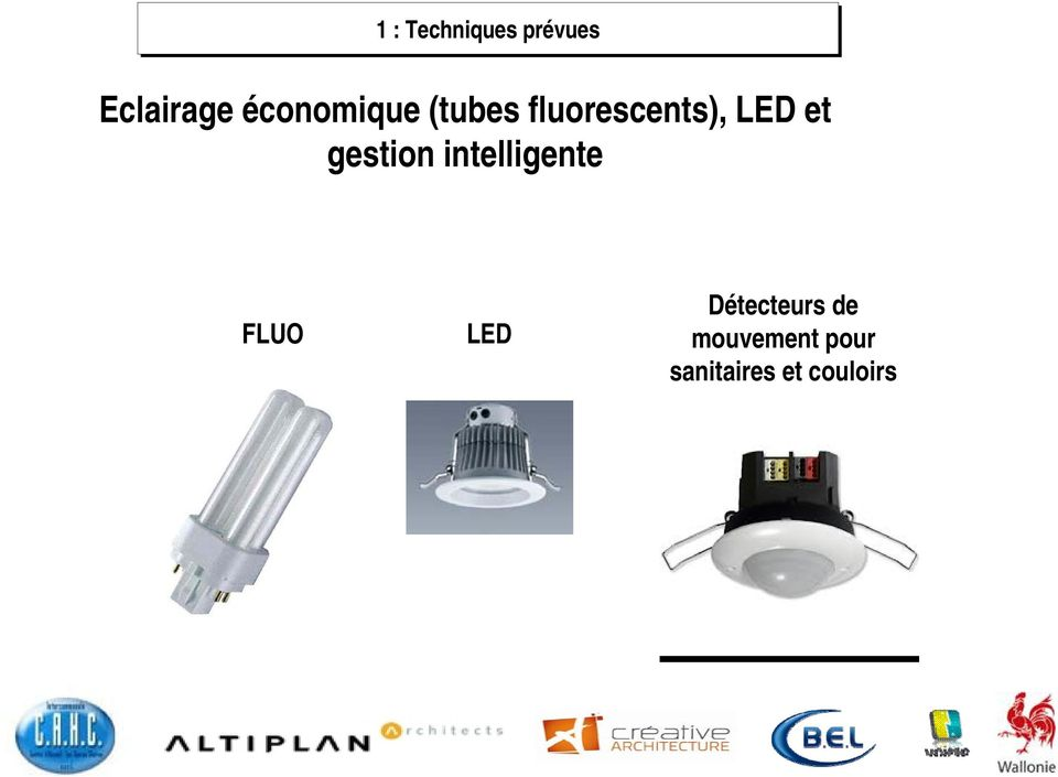 et gestion intelligente FLUO LED
