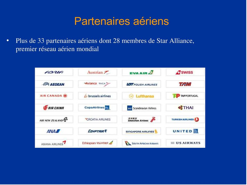 28 membres de Star Alliance,