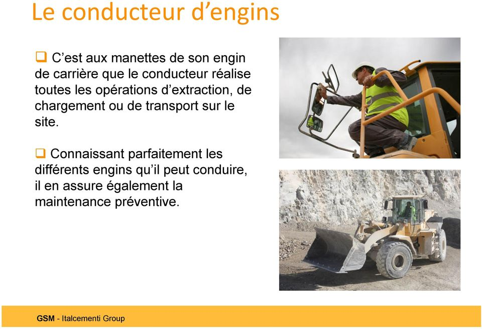 ou de transport sur le site.