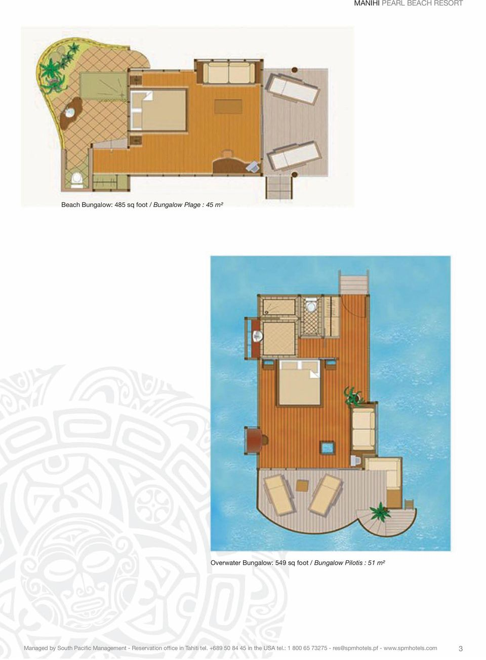 Overwater Bungalow: 549 sq