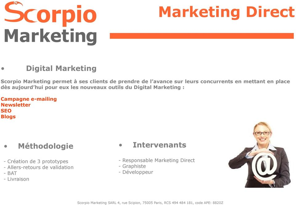 du Digital Marketing : Campagne e-mailing Newsletter SEO Blogs - Création de 3 prototypes -