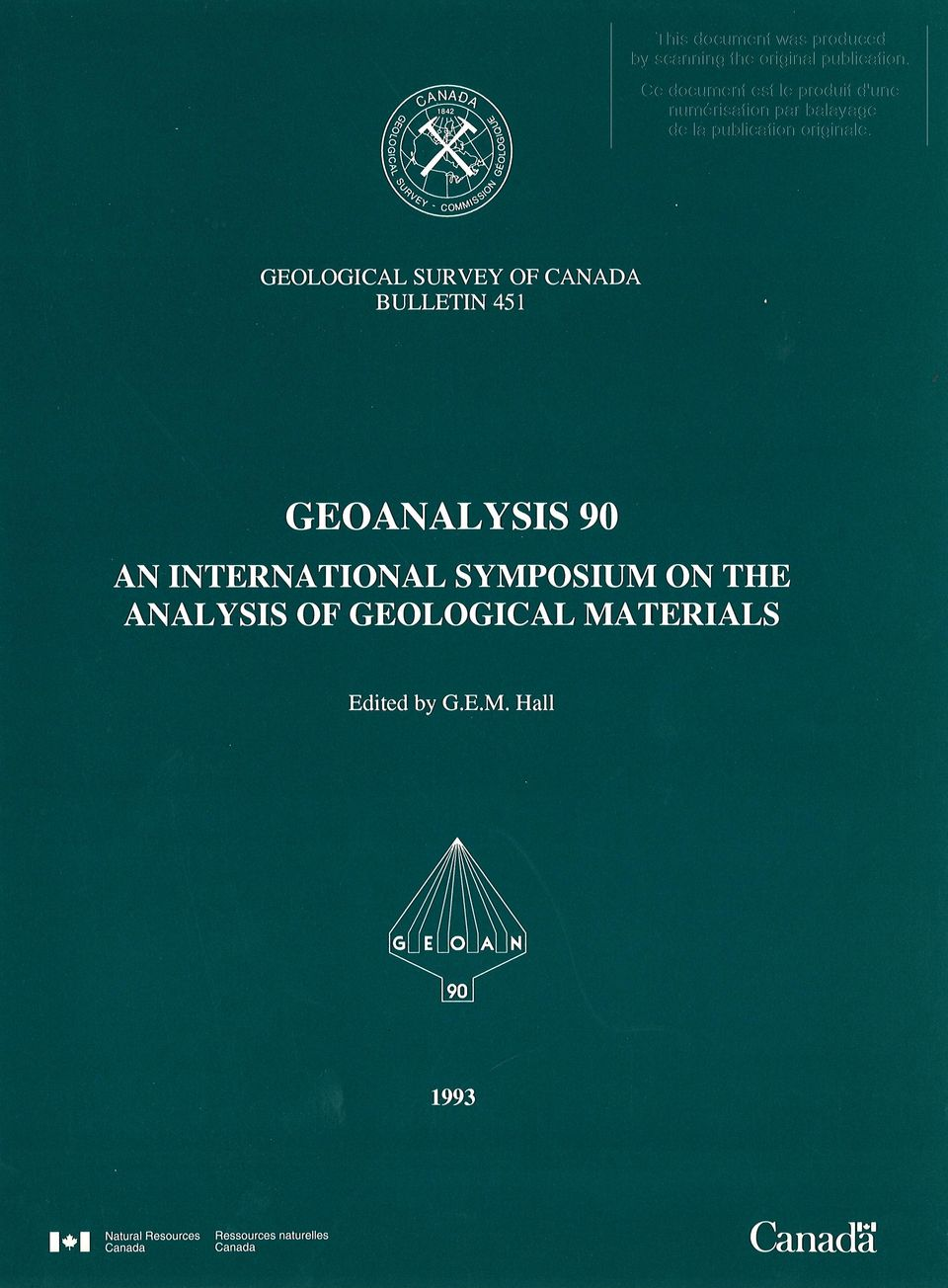 ANALYSIS OF GEOLOGICAL MA