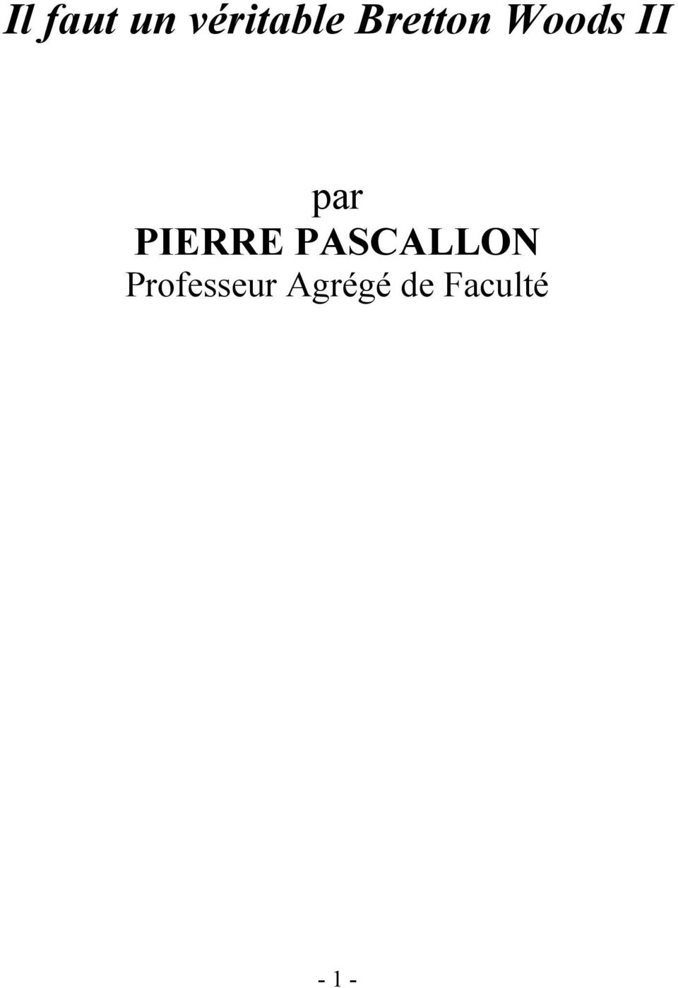 PIERRE PASCALLON