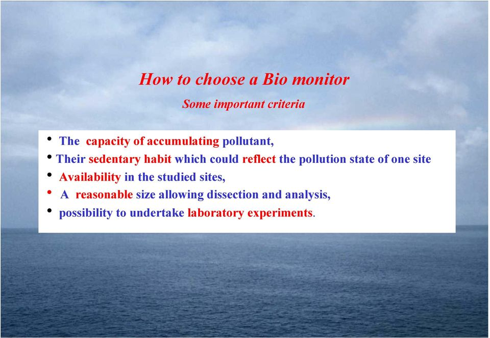 pollution state of one site h Availability in the studied sites, h A