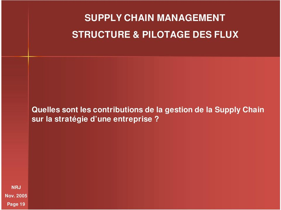 gestion de la Supply Chain