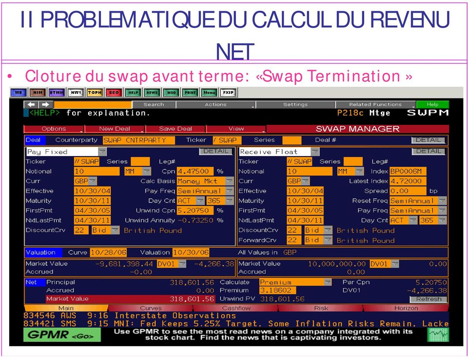 Cloture du swap avant