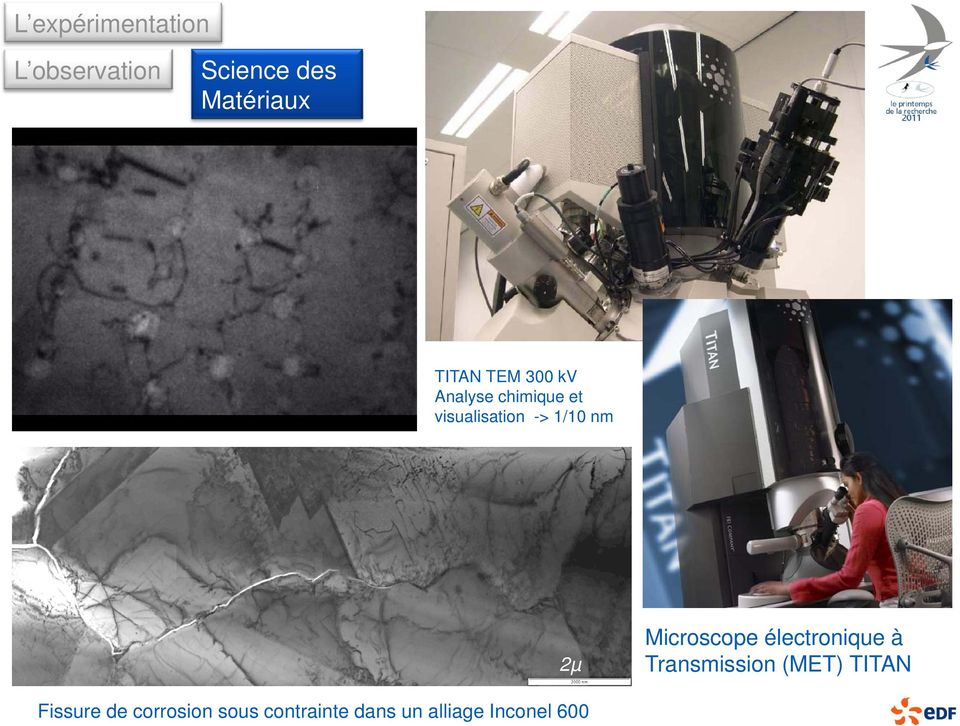 nm 2µ Microscope électronique à Transmission (MET) TITAN